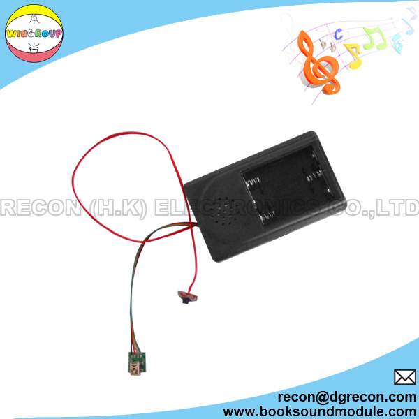 Battery case sound module for plush toy